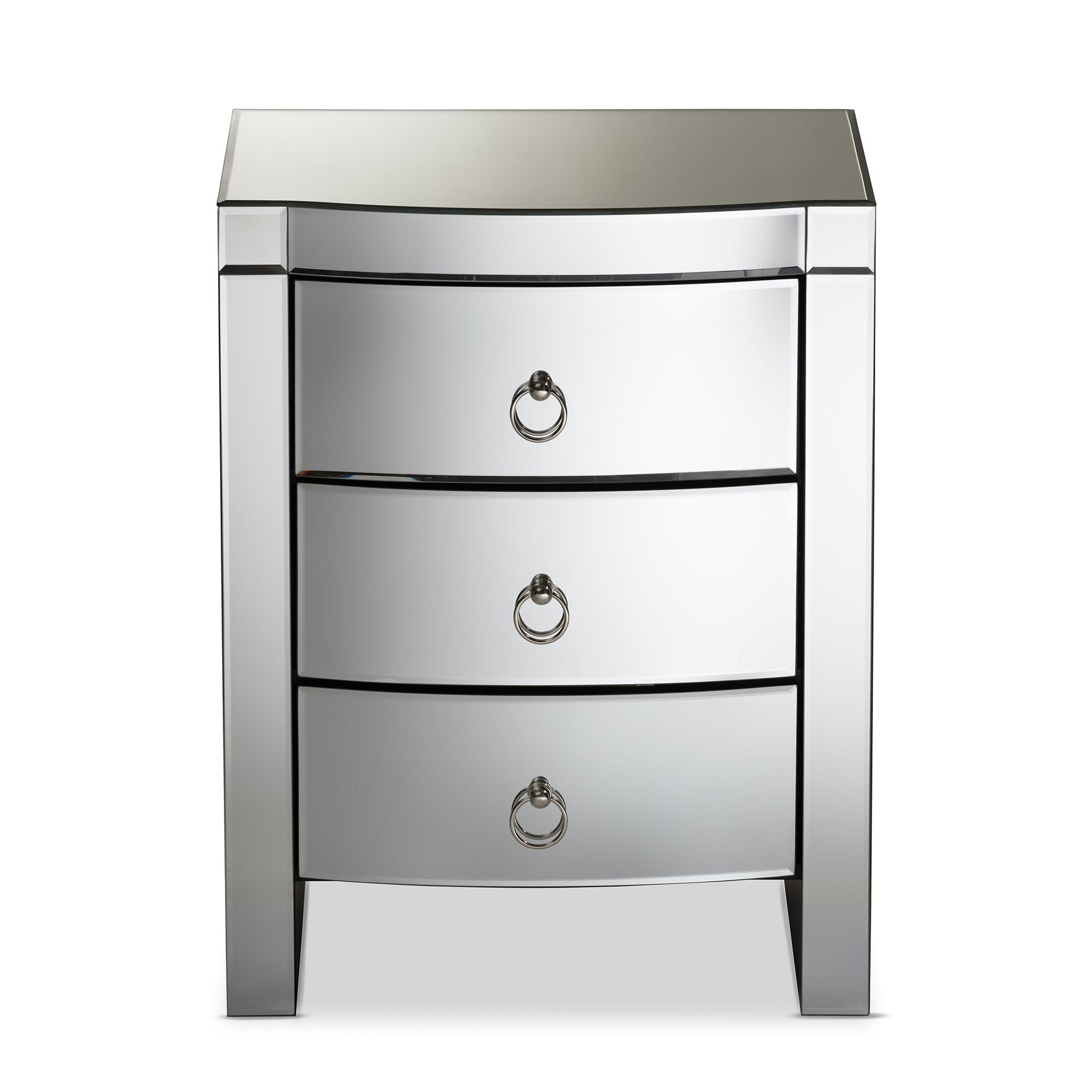 baxton studio florence hollywood regency glamour style mirrored 3drawer nightstand ierxf612