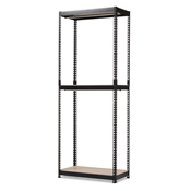 Baxton Studio Gavin Black Metal 3-Shelf Closet Storage Racking Organizer Baxton Studio restaurant furniture, hotel furniture, commercial furniture, wholesale living room furniture, wholesale storage, classic shelving unit