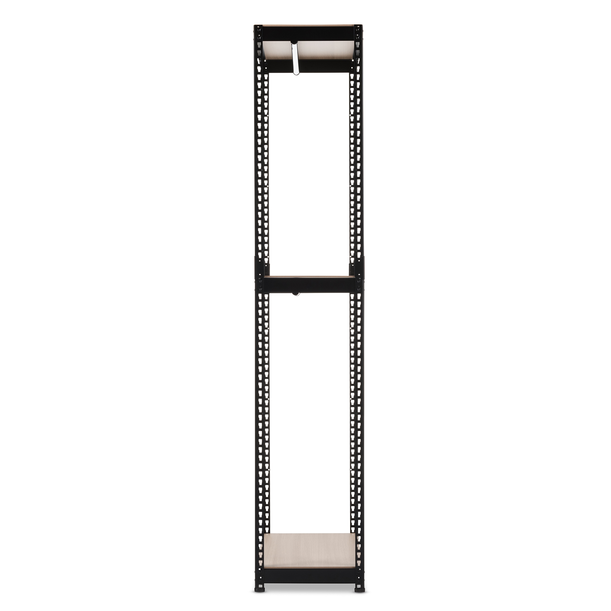... Baxton Studio Gavin Black Metal 3 Shelf Closet Storage Racking Organizer    IEBH06 Black ...
