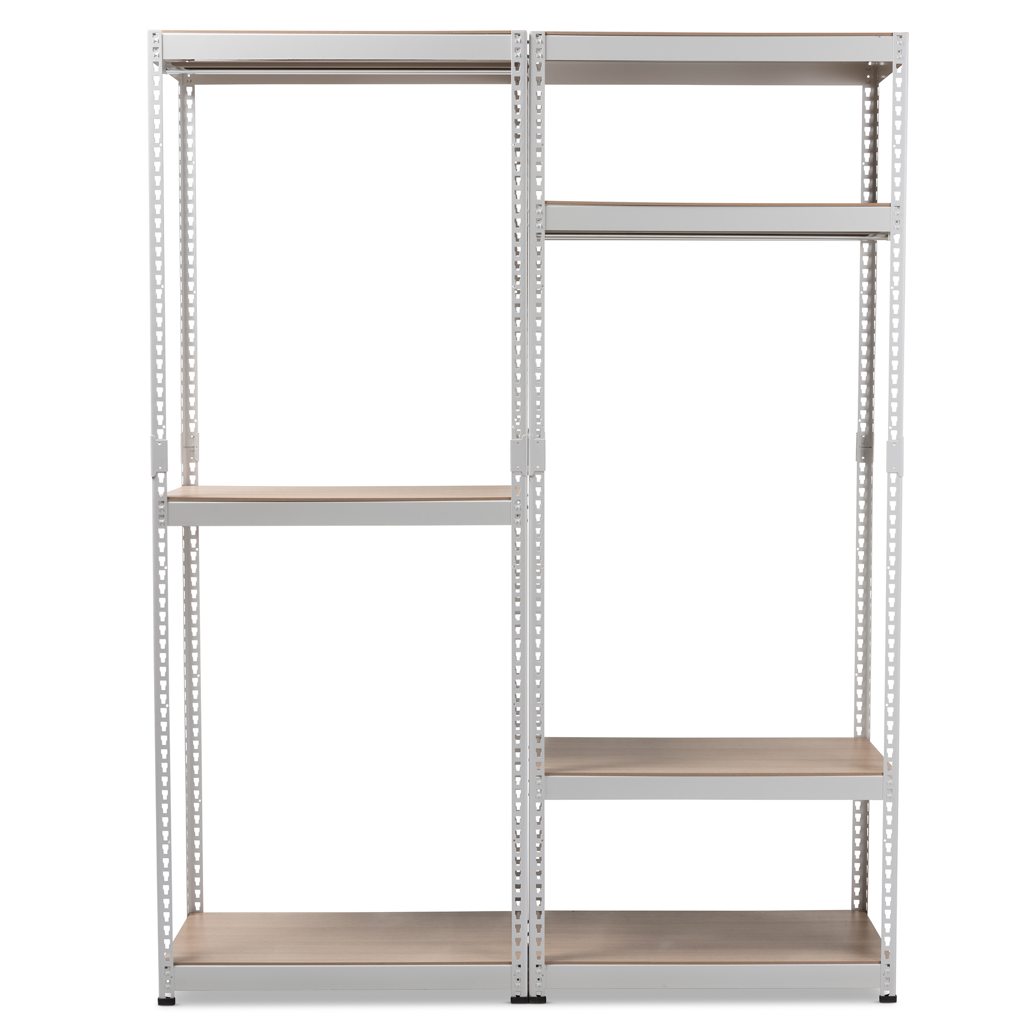 ... Baxton Studio Gavin White Metal 7 Shelf Closet Storage Racking  Organizer   IEWH06/WH09 ...