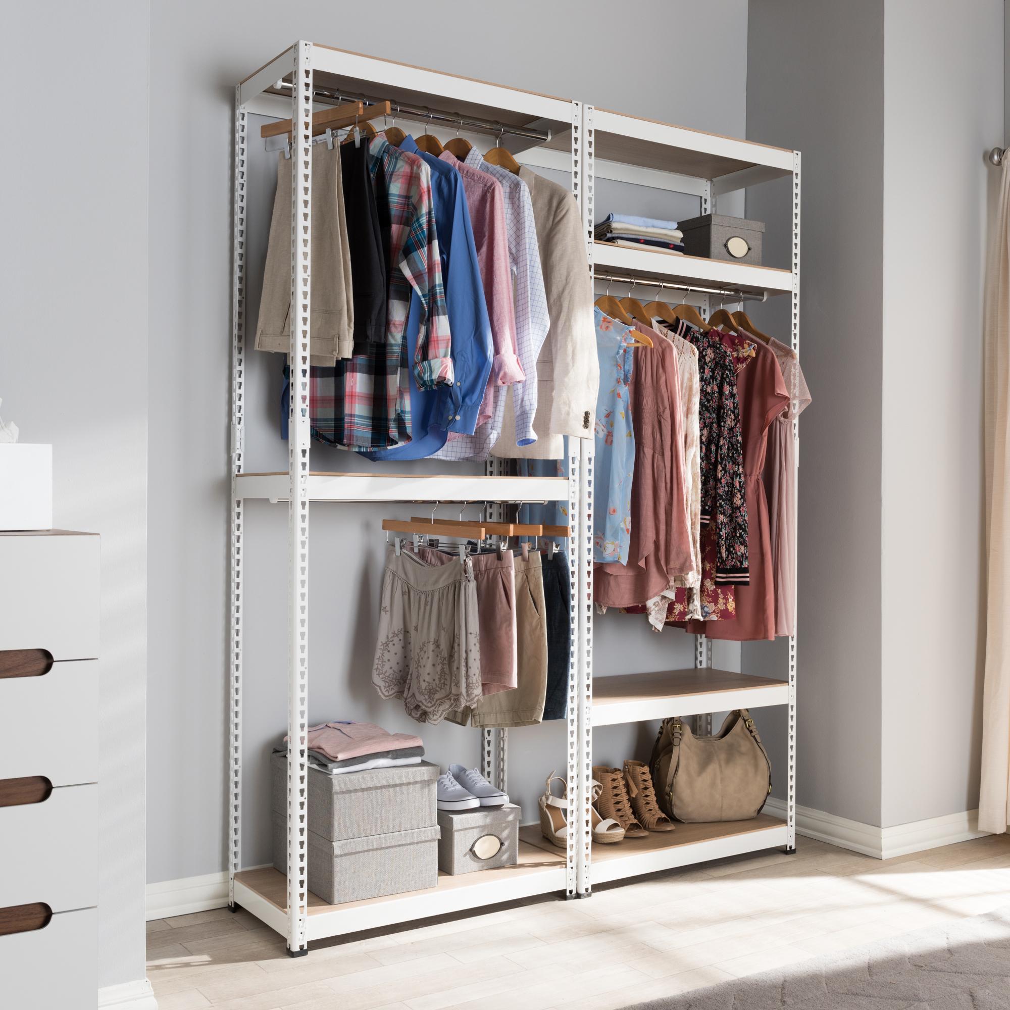 Wonderful ... Baxton Studio Gavin White Metal 7 Shelf Closet Storage Racking  Organizer   IEWH06/WH09 ...