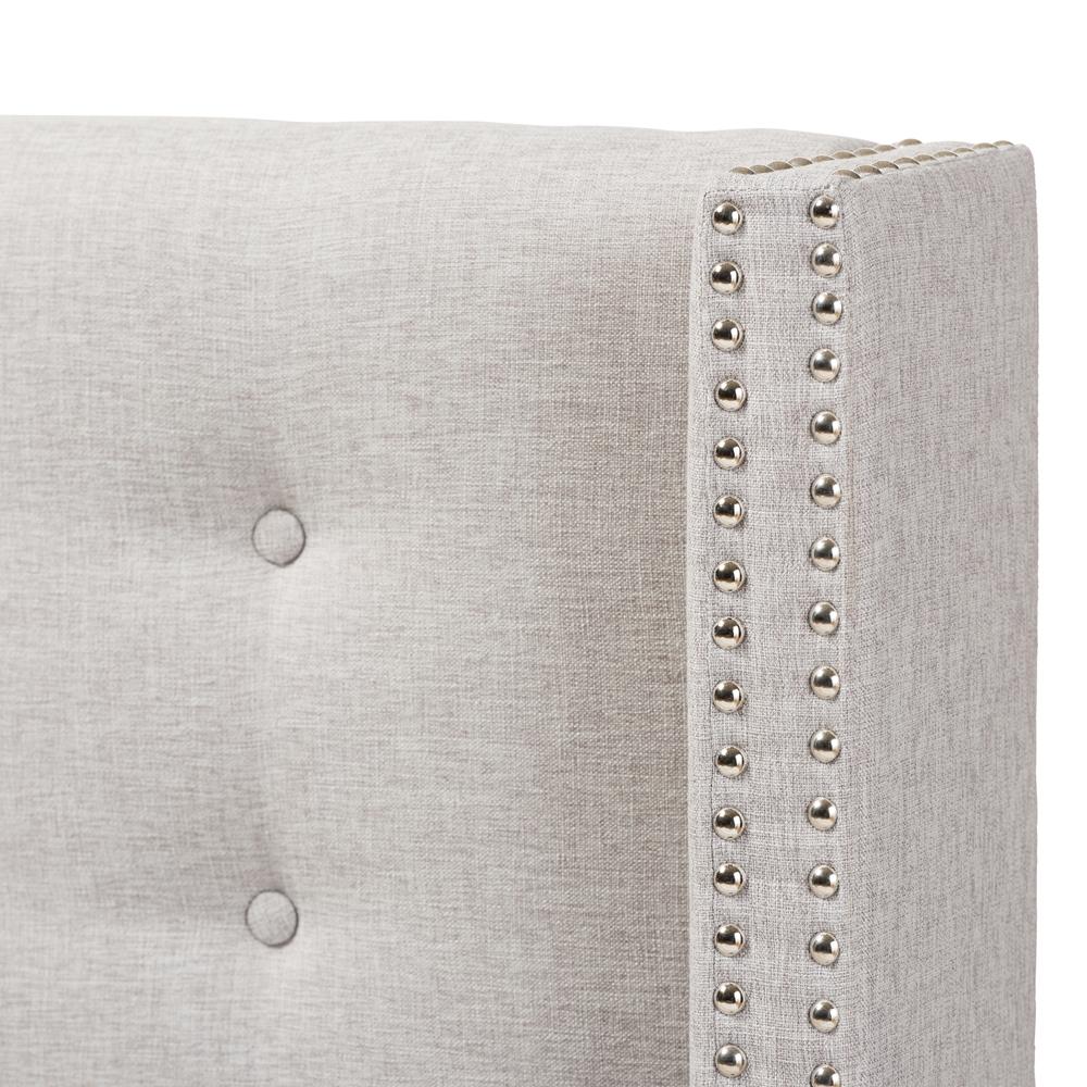 Baxton Studio Ginaro Modern And Contemporary Greyish Beige Fabric ...