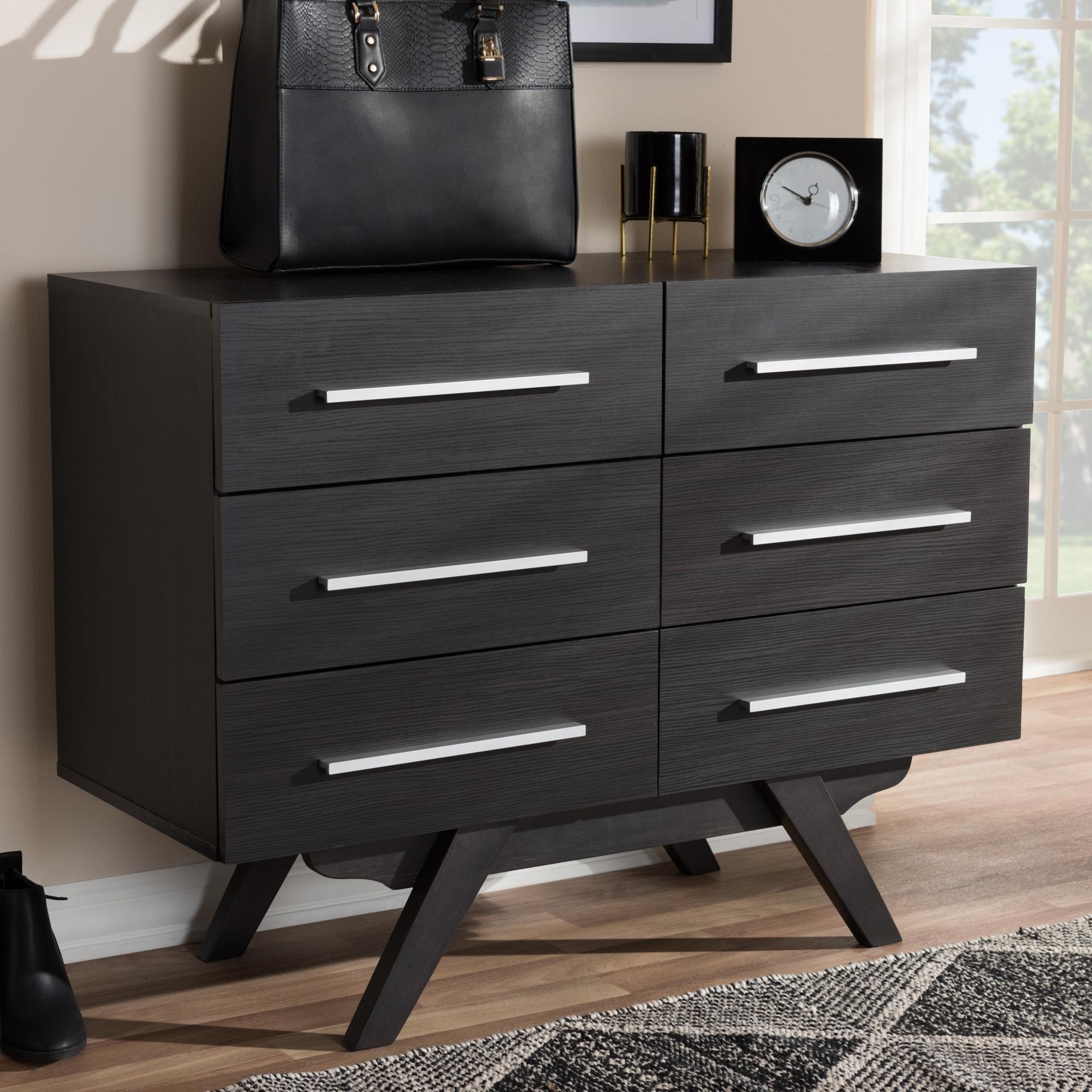 espresso 6 drawer dresser. Baxton Studio Auburn Mid-Century Modern Espresso Brown Finished Wood 6-Drawer Dresser 6 Drawer