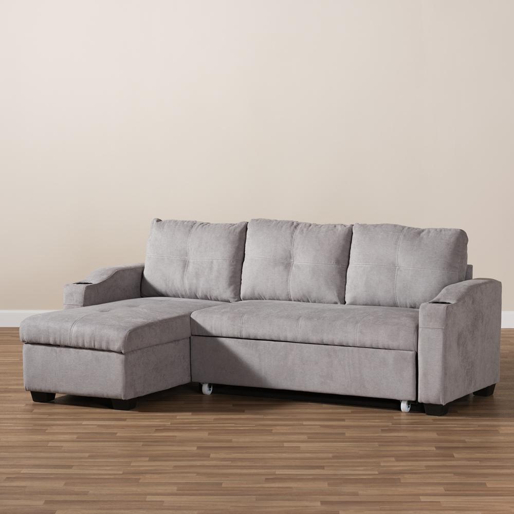 Baxton Studio Lianna Modern And Contemporary Light Grey Fabric