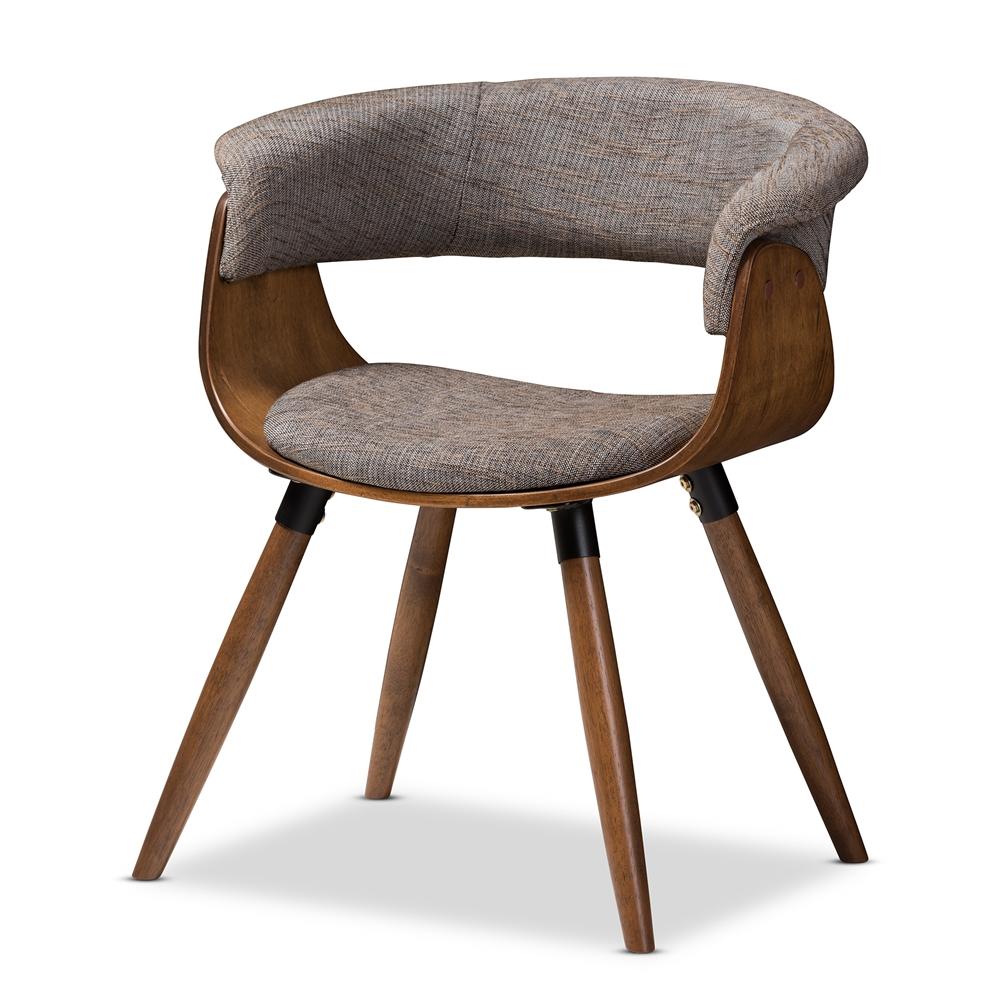 baxton studio bryce mid century modern grey fabric upholstered