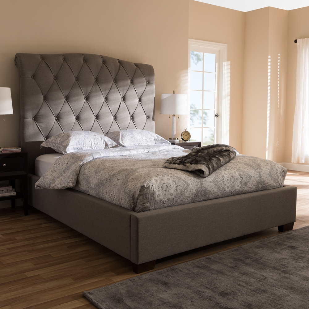 Baxton Studio Victoire Modern And Contemporary Light Grey