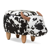 Baxton Studio Mignonne Contemporary Wool Upholstered Buffalo Storage Ottoman Baxton Studio restaurant furniture, hotel furniture, commercial furniture, wholesale living room furniture, wholesale living room set, classic ottomans