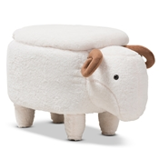 Baxton Studio Pecora Contemporary Wool Upholstered Sheep Storage Ottoman Baxton Studio restaurant furniture, hotel furniture, commercial furniture, wholesale living room furniture, wholesale living room set, classic ottomans