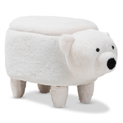 Baxton Studio Bjorn Contemporary Wool Upholstered Bear Storage Ottoman Baxton Studio restaurant furniture, hotel furniture, commercial furniture, wholesale living room furniture, wholesale living room set, classic ottomans