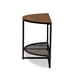 Baxton Studio Chesson Vintage Rustic Industrial Style Wood and Dark Bronze-finished Metal Half Moon Console Table - IEYLX-2714