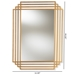 Baxton Studio Kalinda Art Deco Antique Gold Finished Rectangular Accent Wall Mirror - IERXW-6233