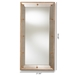 Baxton Studio Almira Modern and Contemporary Antique Gold Finished Rectangular Accent Wall Mirror - IERXW-6157