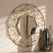 Baxton Studio Astra Modern and Contemporary Gold Finished Geometric Accent Wall Mirror - IERXW-6138