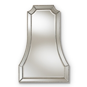 Baxton Studio Sanna Modern and Contemporary Antique Silver Finished Accent Wall Mirror
