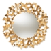 Baxton Studio Soleil Modern and Contemporary Antique Gold Finished Butterfly Accent Wall Mirror - IERXW-6159