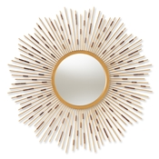 Baxton Studio Apollonia Modern and Contemporary Gold Finished Sunburst Accent Wall Mirror