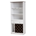 Baxton Studio Serafino Mid-Century Modern Dark Grey and Oak Finished Wood Wine Cabinet - IESEWC16006WI-White/Columbia