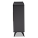 Baxton Studio Pietro Mid-Century Modern Dark Grey and Oak Finished Wine Cabinet - IESEWC160071WI-Dark Grey/Hana Oak