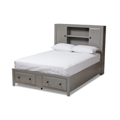 Baxton Studio Rosana Transitional Grey finished Wood 6-Piece King Size Bedroom Set