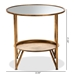Baxton Studio Tamsin Modern and Contemporary Antique Gold Finished Metal and Mirrored Glass Accent Table with Tray Shelf - IEHE17T115-ET