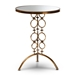 Baxton Studio Issa Modern and Contemporary Antique Gold Finished Metal and Mirrored Glass Accent Table - IEHE16T066-ET