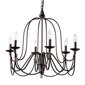 Baxton Studio Palmira Transitional Dark Bronze Metal 6-Light Chandelier Baxton Studio restaurant furniture, hotel furniture, commercial furniture, wholesale living room furniture, wholesale ceiling lamps, classic ceiling lamps
