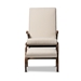 Baxton Studio Kaira Modern and Contemporary 2-Piece Light Beige Fabric Upholstered and Walnut-Finished Wood Rocking Chair and Ottoman Set - IEBBT5317-Light Beige-Otto-Set