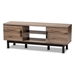 Baxton Studio Arend Modern and Contemporary Two-Tone Oak and Ebony Wood 2-Door TV Stand - IEMH8233-Safari Oak/Ebony-TV