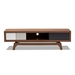 Baxton Studio Svante Mid-Century Modern Multicolor Finished Wood 3-Drawer TV Stand - IEWI1701-Walnut/White/Grey-TV