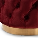 Baxton Studio Valeria Glam Burgundy Red Velvet Fabric Upholstered Gold-Finished Button Tufted Ottoman - IETSFOT030-Burgundy/Gold-Otto