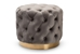 Baxton Studio Valeria Glam Gray Velvet Fabric Upholstered Gold-Finished Button Tufted Ottoman - IETSFOT030-Slate Grey/Gold-Otto