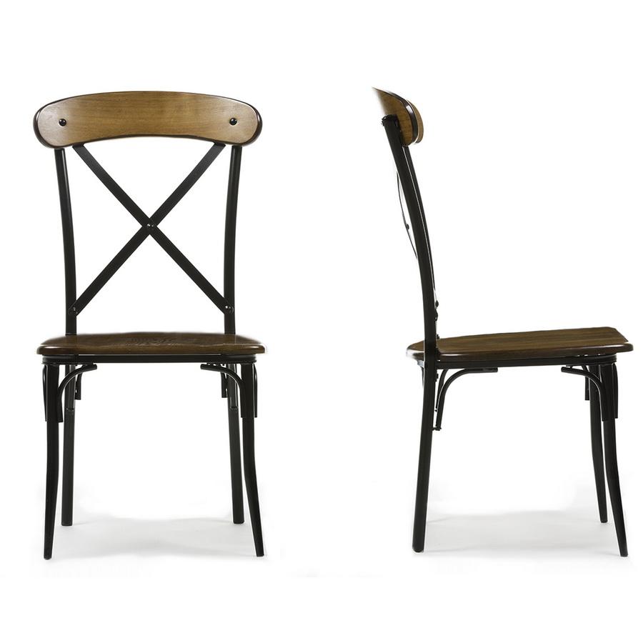 Ordinaire Baxton Studio Broxburn Light Brown Wood U0026 Metal Dining Chair (Set Of 2) ...