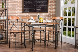 Baxton Studio Broxburn Light Brown Wood & Metal Pub Table Baxton StudioBroxburn Light Brown Wood & Metal Pub Table, FurnitureBar Furniture
