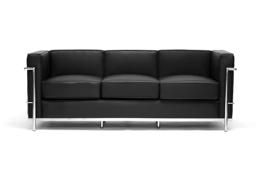 le corbusier sofa in black leather