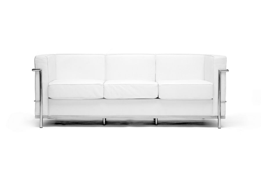 le corbusier petite sofa in white