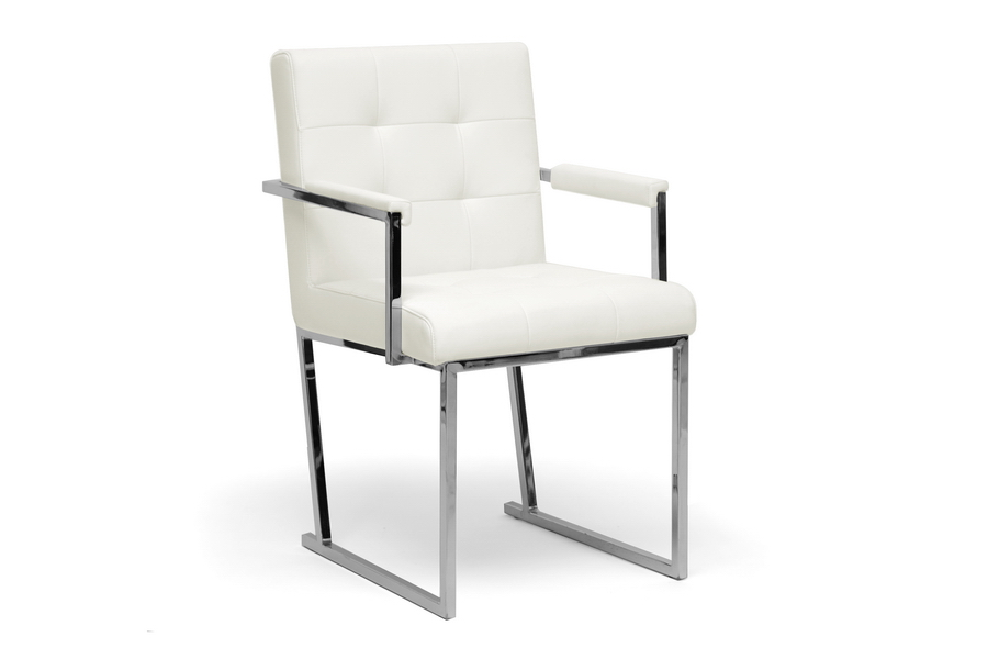 Baxton Studio Collins Ivory Mid Century Modern Accent Chair Home