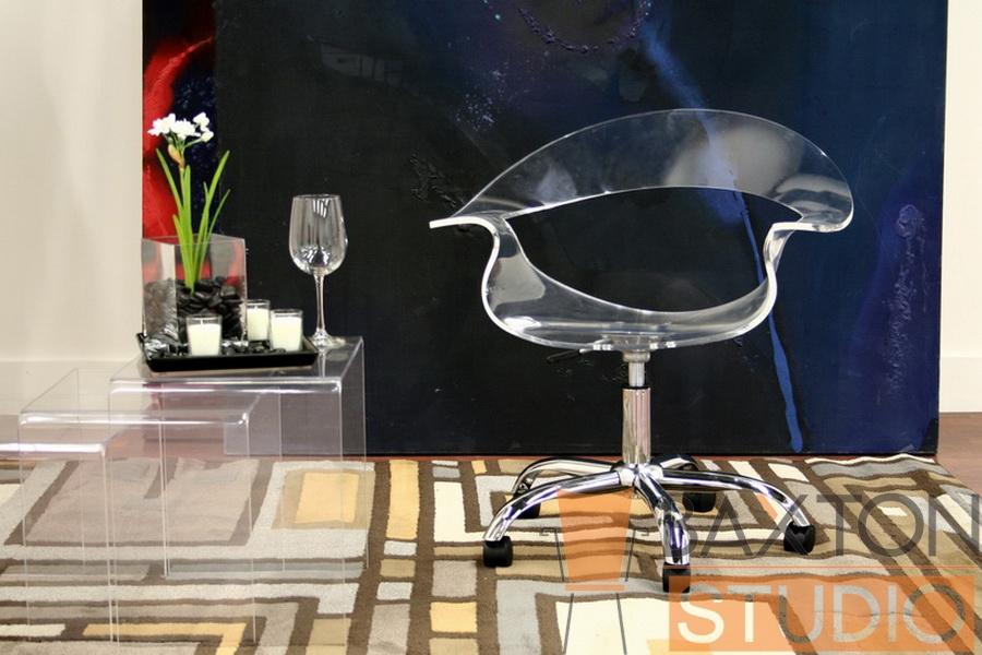 clear acrylic office chair. exellent chair elia acrylic swivel office chair and clear