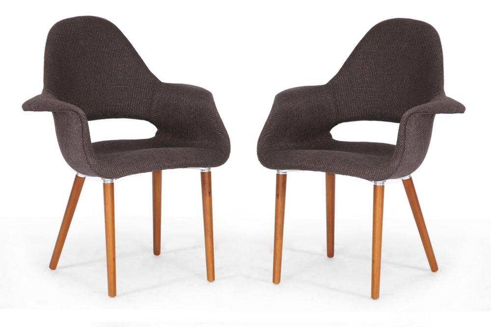 baxton studio forza dark brown fabric mid century modern