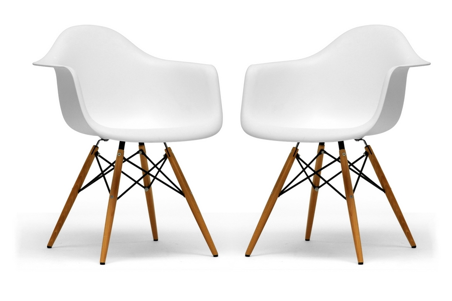 Pascal White Plastic Chair Set Of Two