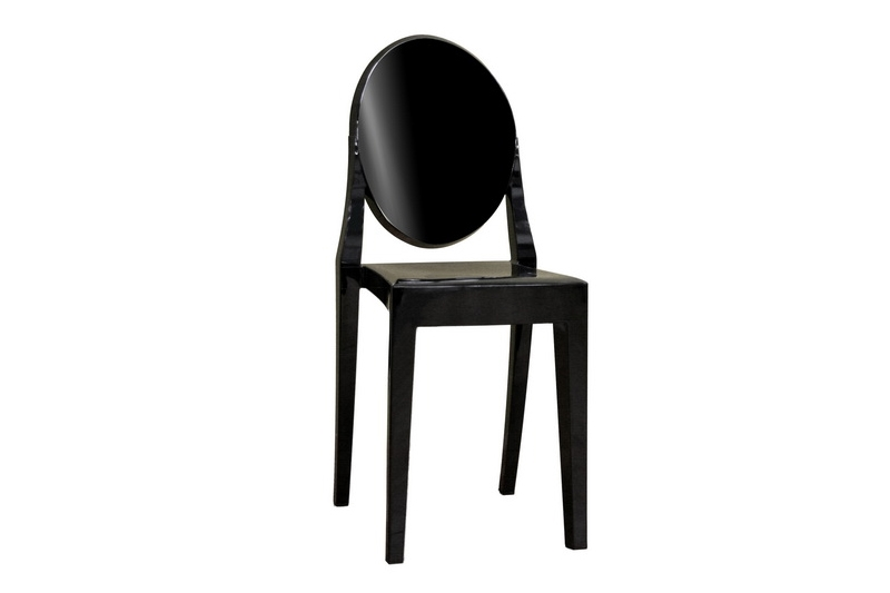 Ghost Chair - Black Acrylic Stackable Side Chair