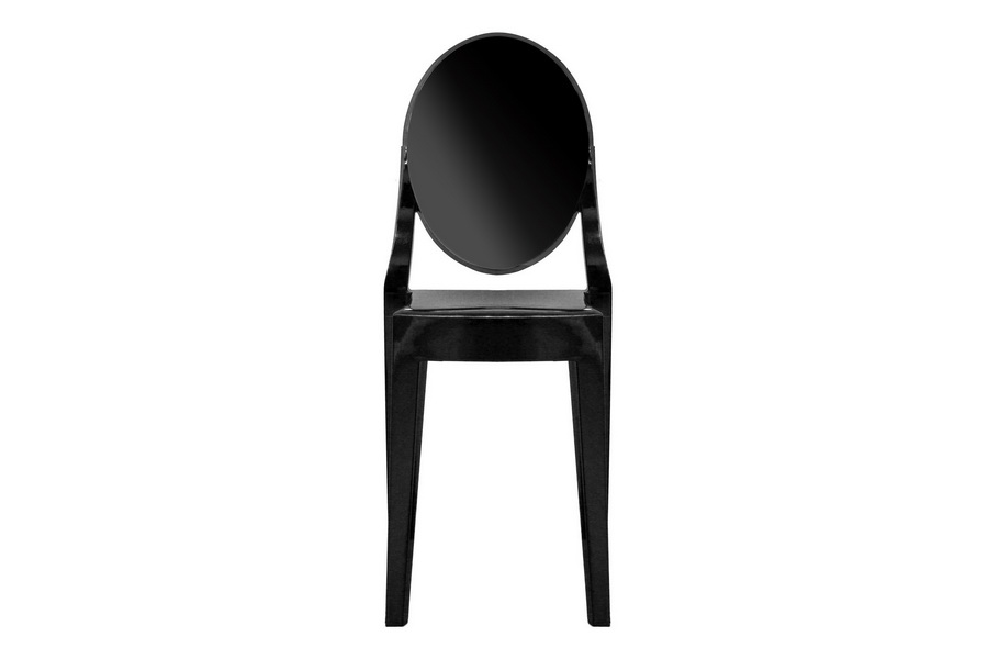 Ghost Chair - Black Acrylic Stackable Side Chair (set of 2)
