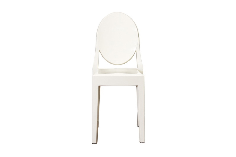ghost chair ivory acrylic stackable side chair