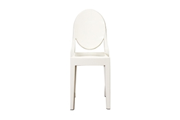 Ghost Chair - Ivory Acrylic Stackable Side Chair