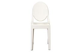 Ghost Chair - Ivory Acrylic Stackable Side Chair (set of 2)