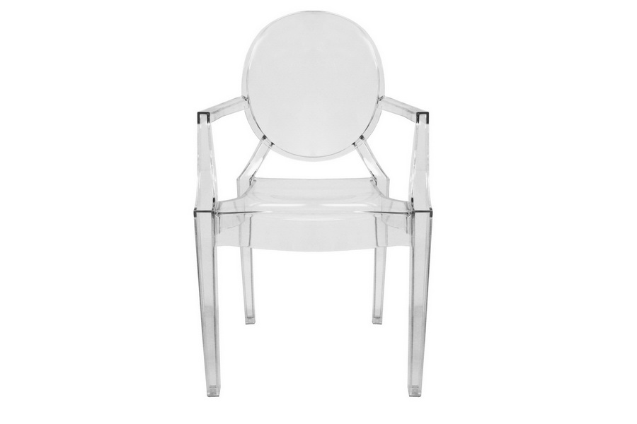 Ghost Chair   Clear Acrylic Stackable Arm Chair (set Of 2)
