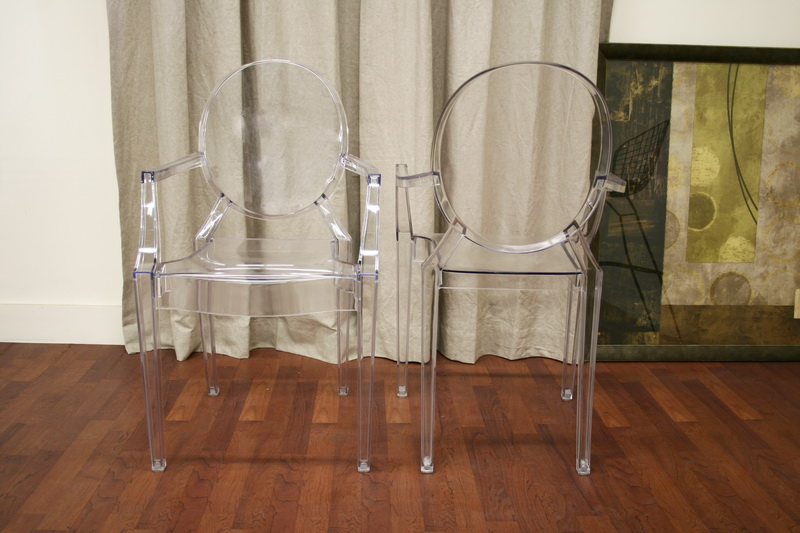 Ghost Chair Clear Acrylic Stackable Arm Chair set of 2 – Clear Arm Chair