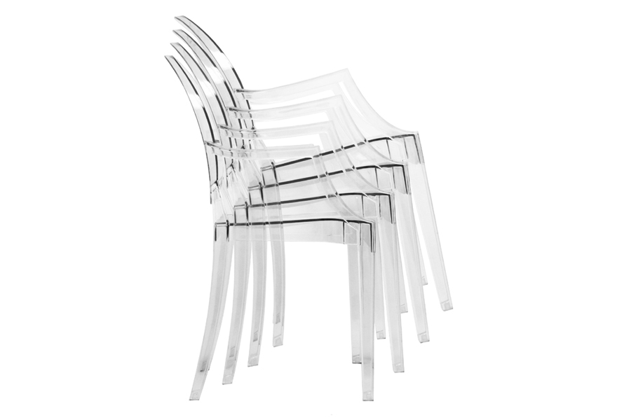 Ghost Chair - Clear Acrylic Stackable Arm Chair | Interior ...
