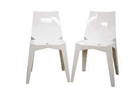Spiccato Angular White Acrylic Accent Chair (Set of 2) Spiccato Angular White Acrylic Accent Chair (Set of 2), IEPC-489-White, compare Spiccato Angular White Acrylic Accent Chair (Set of 2), best price on Spiccato Angular White Acrylic Accent Chair (Set of 2), discount , cheap Spiccato Angular White Acrylic Accent Chair (Set of 2)