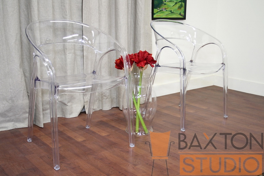 Chloe Transparent Clear Acrylic Accent Chair (set of 2)