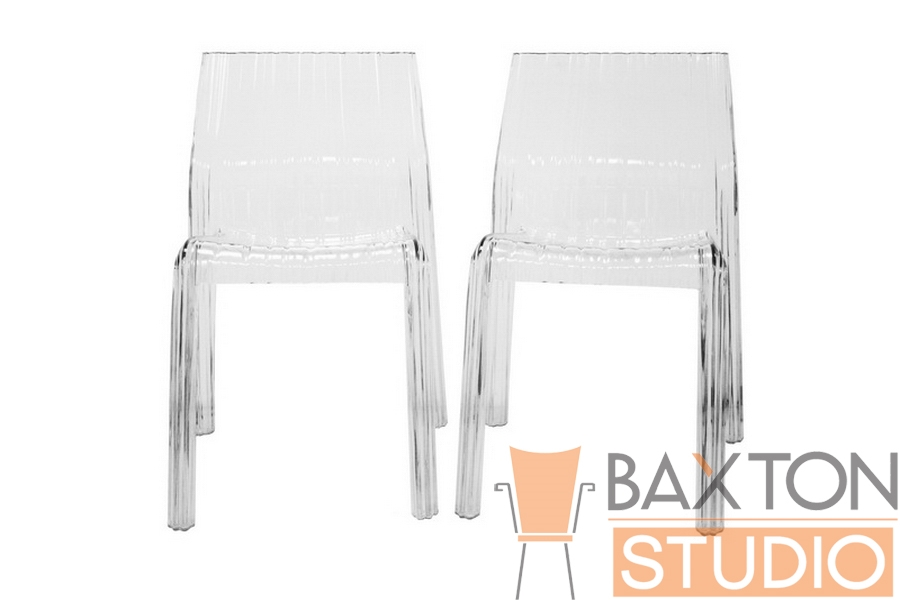 Charo Transparent Clear Acrylic Accent Chair (set of 2)